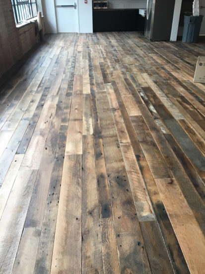 Antique reclaimed flooring