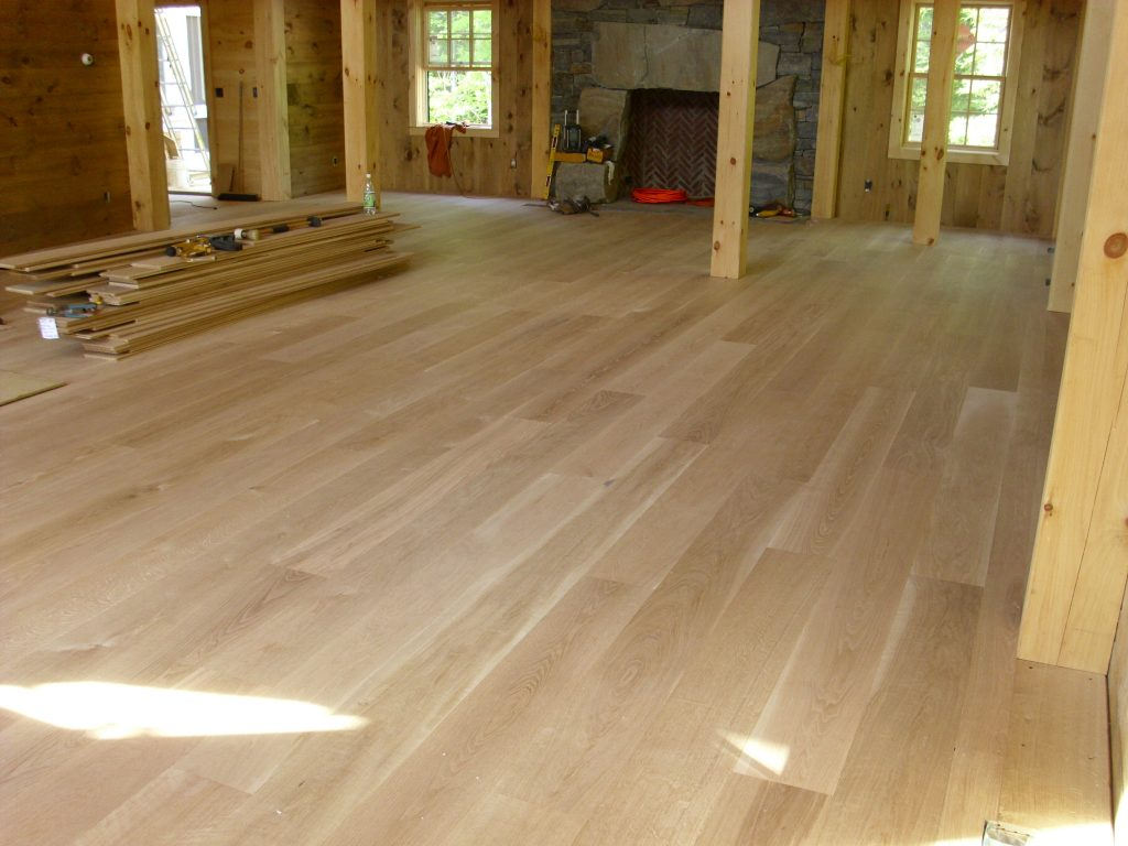 Custom Solid Flooring Wide Plank White Oak Walnut